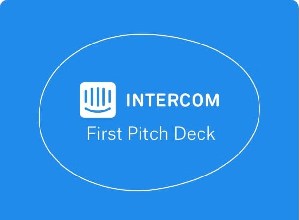 Intercom's First Pitch Deck